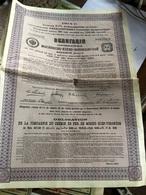 Obligation De La Compagnie Du Chemin De Fer De Moscou-Kief-Voronege (4,5% 1914) - Chemin De Fer & Tramway
