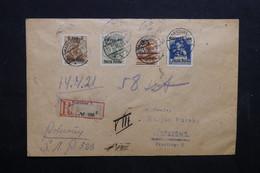 POLOGNE - Enveloppe En Recommandé De Warchau En 1919 , Affranchissement Plaisant - L 32378 - ....-1919 Provisional Government