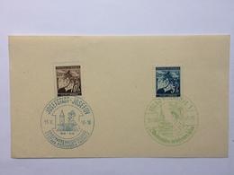 BOHEMIA & MORAVIA 1940 Postal Piece Josefov And Iglau Handstamps - Bohemia & Moravia