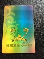 Hotelkarte Room Key Keycard Clef De Hotel Tarjeta Hotel  GRAND WALDO  MACAU - Telefonkarten