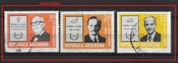 ARGENTINA   1976 Argentine Nobel Prize Winners Ø SET - Oblitérés