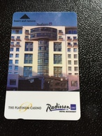 Hotelkarte Room Key Keycard Clef De Hotel Tarjeta Hotel  RADISSON SAS BUCHAREST THE PLATNUM CASINO - Telefonkarten