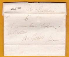 1740 - Marque Postale RHEIMS, Reims, Marne, France Vers Gand, Gent, Flandre, Pays Bas Espagnols, Belgique - 1701-1800: Précurseurs XVIII