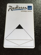 Hotelkarte Room Key Keycard Clef De Hotel Tarjeta Hotel  RADISSON SAS ASTORIJA VILNIUS  CITY CASINO - Telefonkarten