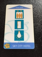 Hotelkarte Room Key Keycard Clef De Hotel Tarjeta Hotel  SKY CITY AUCKLAND NEW ZEALAND - Telefonkarten