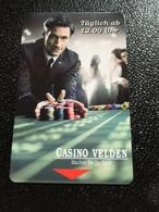 Hotelkarte Room Key Keycard Clef De Hotel Tarjeta Hotel  CASINO HOTEL VELDEN AUSTRIA - Telefonkarten