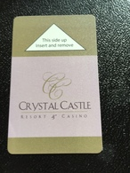 Hotelkarte Room Key Keycard Clef De Hotel Tarjeta Hotel  CRYSTAL CASTLE RESORT & CASINO - Phonecards
