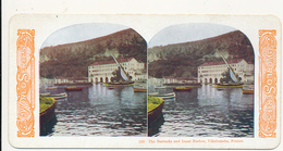 STEREOVIEW - # 135, The Barracks And Inner Harbor, Villefranche, France, WORLD SERIES, By KAWIN, 1905 - Stereo-Photographie