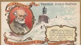 CHROMO IMAGE) CHOCOLAT GUERIN BOUTRON Les Bienfaiteurs De L Humanité(  Janssen Savant Français ) (6x10.5) - Guérin-Boutron