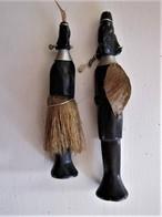 COUPLE D'AFRICAINS EN EBENE - Hauteur 18 Cm. - C7 - Wood