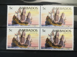 FRANCOBOLLI STAMPS BARBADOS 1994 MNH** NUOVI SHIPS NAVI DUTCH FLYUT 1695 QUARTINA - Barbados (1966-...)