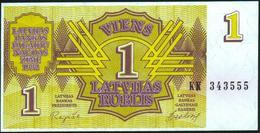 LATVIA - 1 Rublis 1992 {Latvijas Banka} UNC P.35 - Latvia