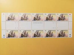 FRANCOBOLLI STAMPS BARBADOS 1994 MNH** NUOVI SHIPS NAVI DUTCH FLYUT 1695 BLOCCO - Barbados (1966-...)
