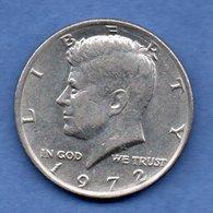 USA  - 1/2 Dollar 1972   -  Km # 205  -  état  TTB - Émissions Fédérales