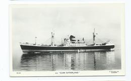 Ss.clan Sutherland Plain Back Rp Ship Scotish Line M.s.52   Unused - Paquebots