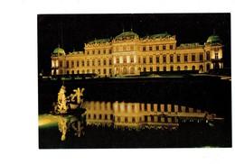 Cpsm - Autriche - Vienne Wien - Château Illuminé - Statue Sirène - Sculptures