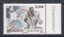 Monaco (2019) Ciclismo/cycling: Fausto Coppi (Centenario Della Nascita/Centenary Of The Birth) - Single Stamp (MNH) - Radsport
