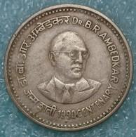 "India 1 Rupee, 1990 100th Anniversary - Birth Of Dr. Bhimrao Ramji Ambedkar Mintmark ""♦"" - Bombay -2423 - Inde"