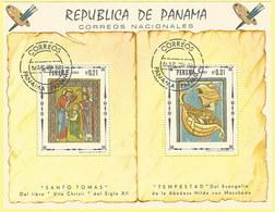Panama 1968: Block 82 Mit Nr. 1038+1039° 2 Bilder Aus Dem Evangeliar Der Äbtissin Hitda Von Meschede #H20 - Panama