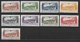 GUYANE FRANCAISE 1933-42  - YT AE 11 à 18 (s) + AE 20 ** MNH Côte YT : 8  Euros - Guyane Française (1886-1949)