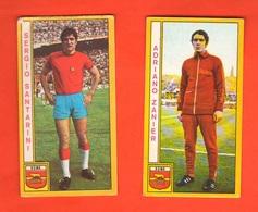 Calcio PANINI 2 Figurine Calciatori ZANIER SANTARINI ROMA Campionati 1969 - 70 - Edizione Italiana
