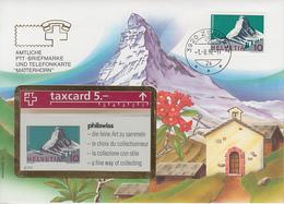 SUISSE - PHONE CARD * RARE *** TÉLÉCARTE & TIMBRE - PHILSWISS 92 *** - Schweiz