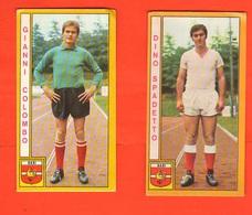 Calcio PANINI 2 Figurine Calciatori SPADETTO COLOMBO BARI Campionati 1969 - 70 - Edizione Italiana