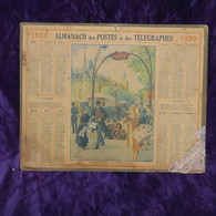 Calendrier Ancien 1930 Illustré/ J.L. Beuzon, Métro Place St Michel / H.Guimard, 1930, Metro Place St Michel H. Guimard - Klein Formaat: 1921-40