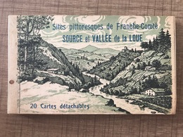 Carnet 20 Cartes SOURCE ET VALLÉE DE LA LOUE - France