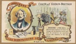 CHROMO IMAGE) CHOCOLAT GUERIN BOUTRON Les Bienfaiteurs De L Humanité(  Daguerre 1789- 1851 ) (6x10.5) - Guérin-Boutron