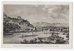 38- GRENOBLE  - Vue De La Ville D'après Une Gravure De La May     JG - Grenoble