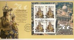 Gibraltar 2009 Yvertnr 4 X 1317 FDC Oblitéré  Cote 12,00 Euro - Gibraltar