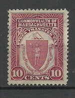 USA Commonwealth Of Massachusetts Stock Transfer Tax 10 Cents O - Fiscaux