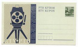 1970s YUGOSLAVIA, RTV KUPON, 0.50 DINAR, POSTAL STATIONERY, NOT USED, VOTING CARD - Postal Stationery