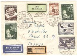Autriche Nativité : 1953/55 3 Lettres (dont 1 LR) Avec Grand Cachet Circulaire Illustré CHRISTKINDL - Christianisme