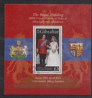 Gibraltar 2011 Yvertnr Bloc 102 FDC Oblitéré  Cote 11,00 Euro Prince William Kate Middleton - Gibraltar
