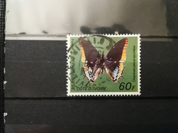 FRANCOBOLLI STAMPS COSTA D' AVORIO COTE D' IVOIRE 1977 USED BUTTERFLIES FARFALLE - Costa D'Avorio (1960-...)