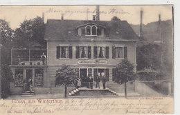 Gruss Aus Winterthur - Café-Restaurant Von W.Lampert - Animiert - 1904        (90612) - ZH Zurich