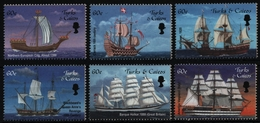 Turks- & Caicos 2001 - Mi-Nr. 1580-1585 ** - MNH - Schiffe / Ships - Turks & Caicos