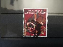 FRANCOBOLLI STAMPS COSTA D' AVORIO COTE D' IVOIRE 1977 USED EXOTIC FLOWERS FIORI ESOTICI - Costa D'Avorio (1960-...)