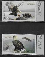 NAGORNO KARABAKH, REPUBLIC OF ARTSAKH , 2019, MNH, EUROPA, BIRDS, BIRDS OF PREY, 2v - 2019