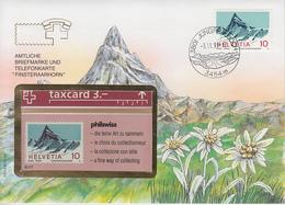 SUISSE - PHONE CARD * RARE *** TÉLÉCARTE & TIMBRE - PHILSWISS 93/9 *** - Schweiz