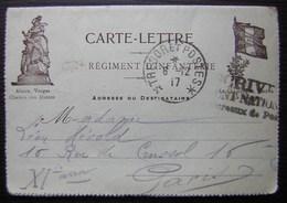 1917 Carte Lettre Du 297 Eme Régiment D'infanterie Secteur Postal 193 Pour Madame Hérold - Postmark Collection (Covers)