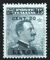 Egeo Lero 1916 Sass.8 */MH VF/F - Ägäis (Lero)