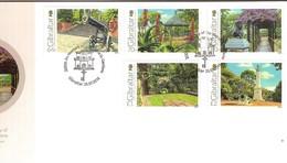 Gibraltar 2016 Michel N° 1741-1745 ETB FDC Oblitéré Alameda Gardens Jardins Tuinen - Gibraltar