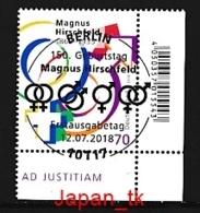 GERMANY Mi. Nr. 3403 150. Geburtstag Von Magnus Hirschfeld - ESST Berlin - Eckrand Unten Rechts - Used - Gebraucht