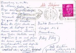 33119. Postal BARCELONA 1974. Rodillo Aniversario Real Club TENIS Barcelona. Tennis - 1931-Hoy: 2ª República - ... Juan Carlos I