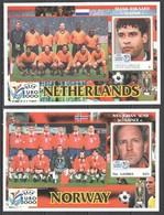 B867 GRENADA CARRIACOU SPORT FOOTBALL UEFA EURO 2000 TRAINERS NETHERLANDS RIJKAARD NORWAY SEMB 2BL MNH - Championnat D'Europe (UEFA)