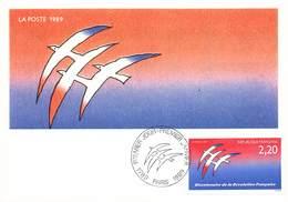 France Lot De 51 Cartes Carte Maximum Card Année 1989 Revolution Train Espace Célébrités Tableau Croix Rouge - Maximum Cards