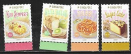SINGAPORE, 2019, MNH, FOOD, SWEETS, CONFECTIONS, DESSERTS,4v EMBOSSED - Food